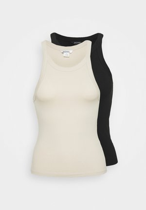 EDDA SINGLET 2 PACK - Top - beige/black