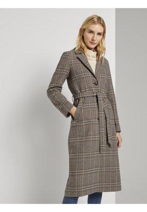 Classic coat - beige multi colored check