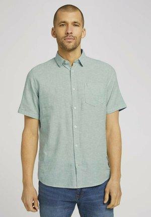 Shirt - light mint green chambray