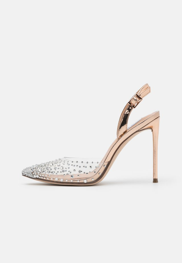 RECORD - Højhælede pumps - rose gold/multicolor