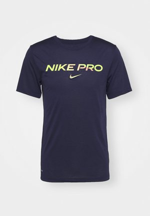 TEE PRO - Camiseta estampada - blackened blue/cyber