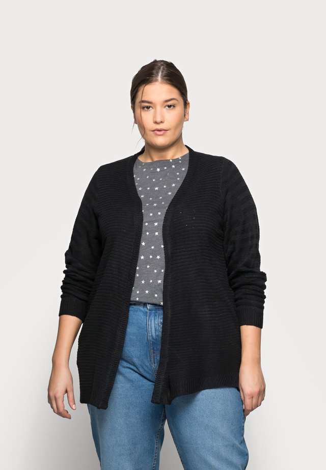 NMCARLY CARDIGAN - Kardigan - black
