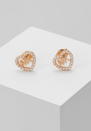 HEARTS - Earrings - rose gold-coloured
