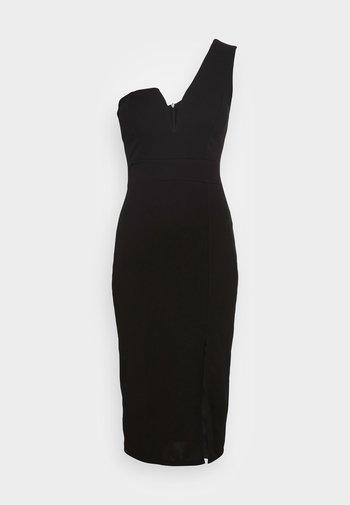 GIGI ONE SLEEVE MIDI DRESS - Cocktail dress / Party dress - black