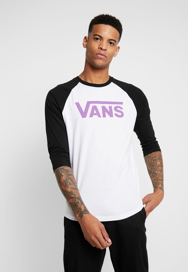 Vans - CLASSIC RAGLAN CUSTOM FIT  - Langarmshirt - white-black-dewberry