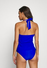 Pour Moi - SPLASH FRILL UNDERWIRED HALTER TANKINI - Bikini top - blue - 2
