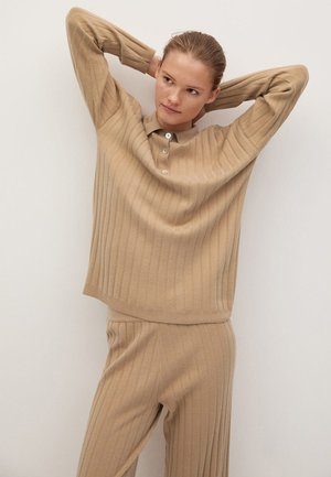 POLO-I - Fleece jumper - beige