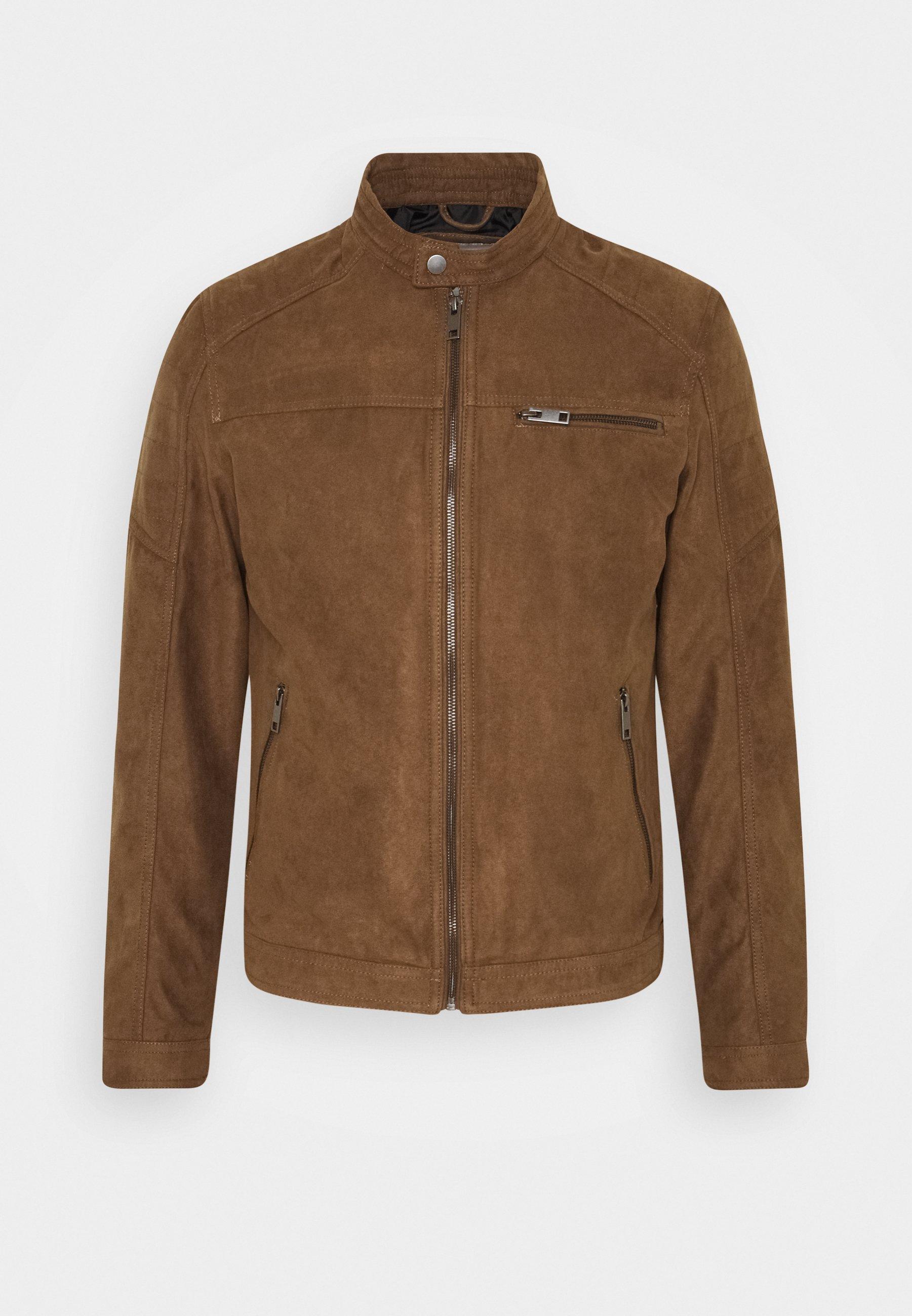 Men JJEROCKY JACKET - Faux leather jacket