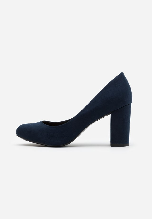 WIDE FIT REEMA BLOCK - Zapatos altos - navy