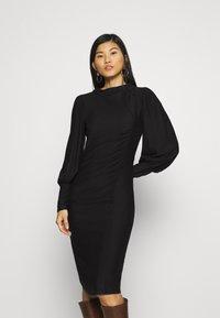 Gestuz - RIFAGZ PUFF DRESS - Day dress - black - 0