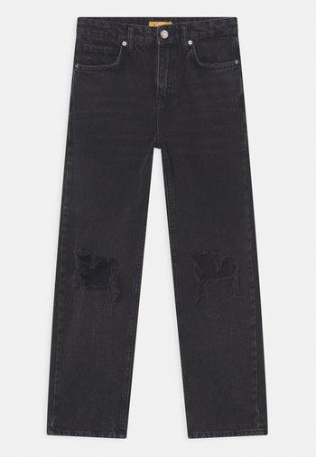 Straight leg jeans - off black