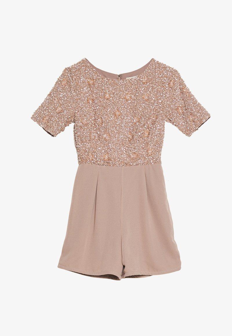 Lace & Beads Petite - CLARA PLAYSUIT - Jumpsuit - mink