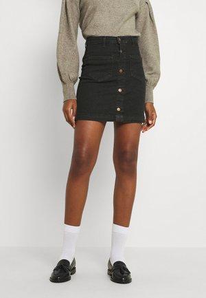 ONLAMAZING LIFE SKIRT BOX - Mini skirt - black denim