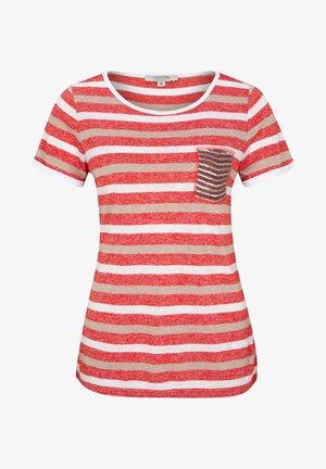 MIT SCHMUCK-APPLIKATION - Print T-shirt - light red