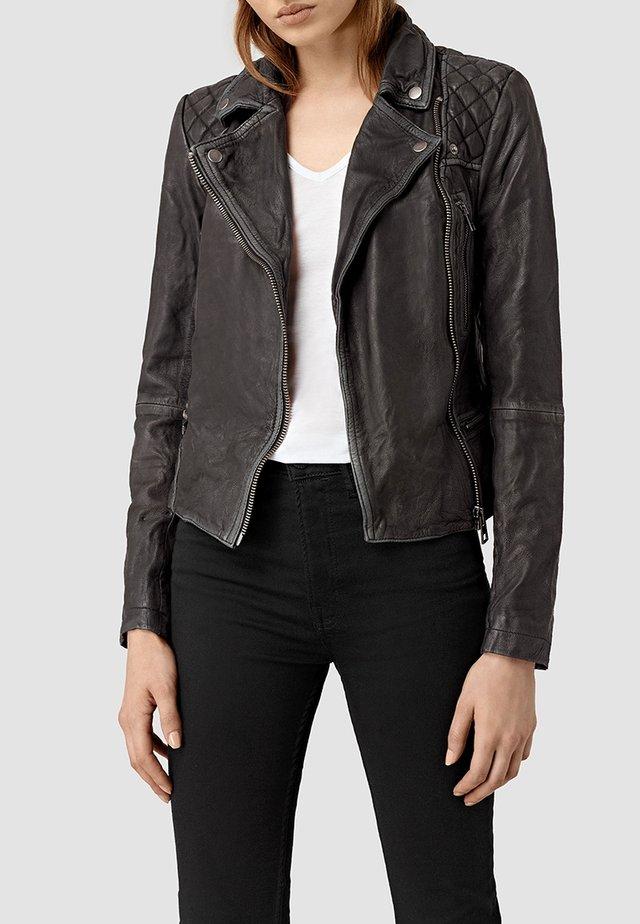 CARGO BIKER - Leren jas - black/grey