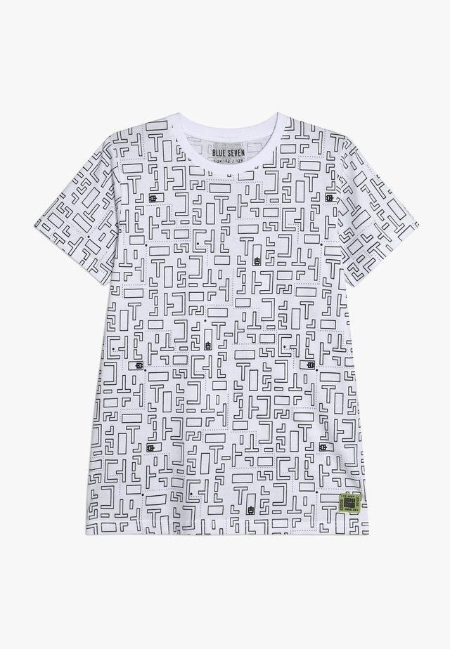 RUNDHALS - Print T-shirt - weiss