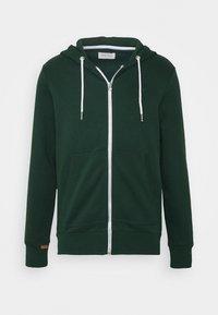 Mikina na zip - dark green