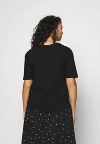 Simply Be - 2 PACK GATHERED TEES - Basic T-shirt - black/white - 2