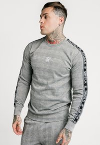 SIKSILK - DOG TOOTH CHECK CREW SWEATER - Sweater - black/white - 0