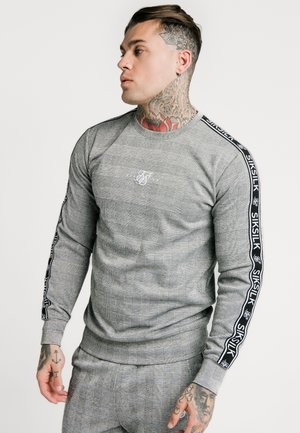 DOG TOOTH CHECK CREW SWEATER - Mikina - black/white