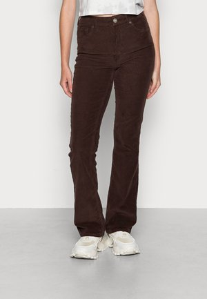 FLARE - Trousers - chocolate