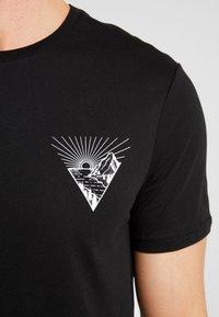 Pier One - Print T-shirt - black - 5