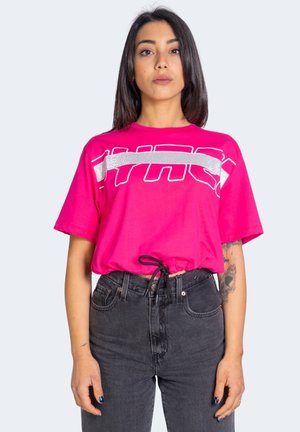 T-shirt con stampa - fuxia