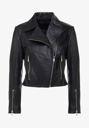 MARIE JACKET - Leather jacket - black