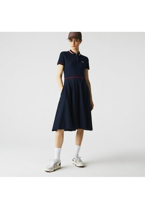 Jersey dress - bleu marine/rouge/blanc
