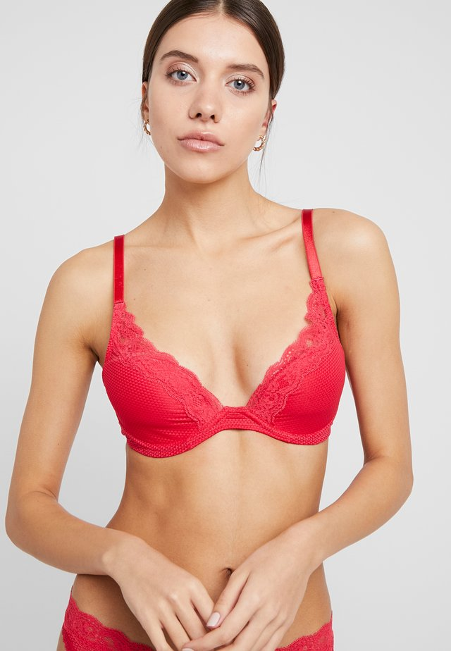 BROOKLYN - Underwired bra - strawberry