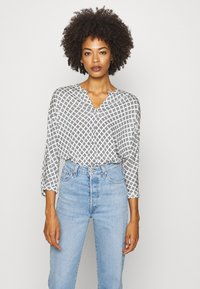 Marc O'Polo - SLEEVE - Long sleeved top - oyster white - 0