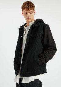 PULL&BEAR - Džínová bunda - metallic black - 3