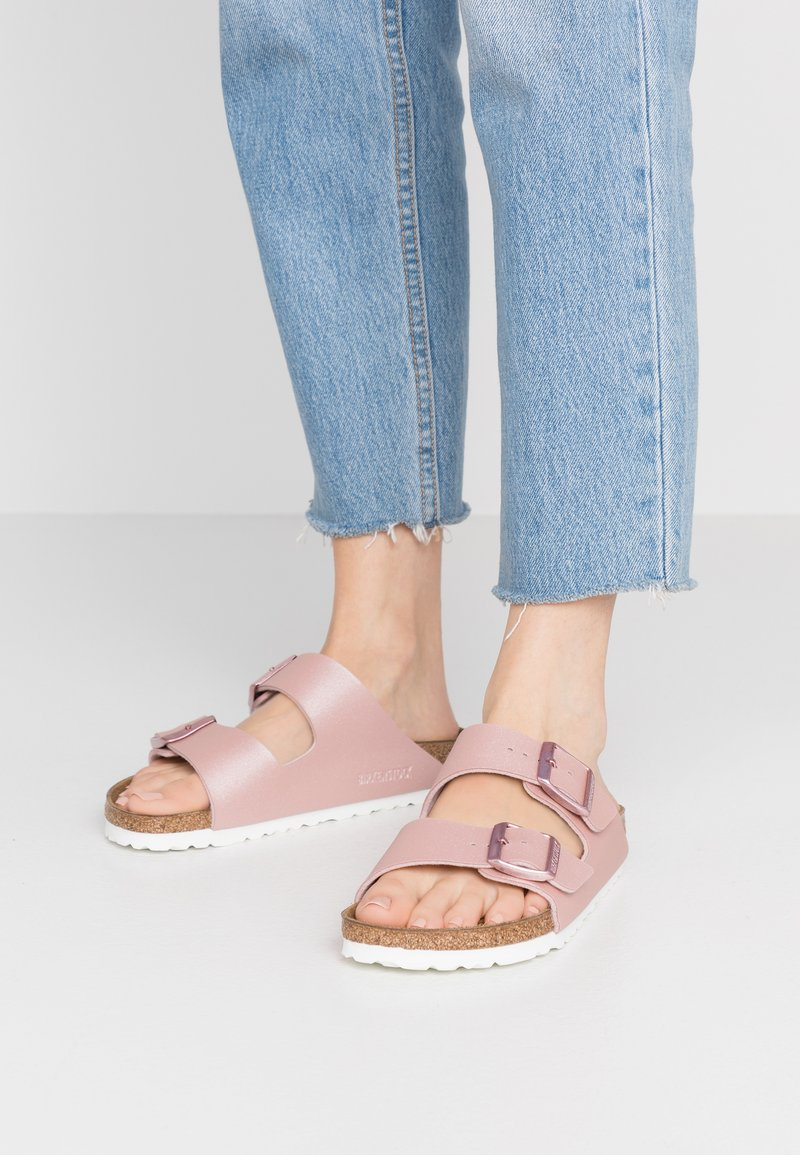 Birkenstock - ARIZONA - Slippers - icy metallic old rose