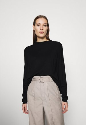 SOFT GROWN ON COLLAR - Jumper - black