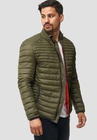 INDICODE JEANS - REGULAR FIT - Light jacket - army - 4