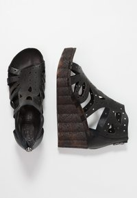 Felmini - LESLIE - Platform sandals - black - 3