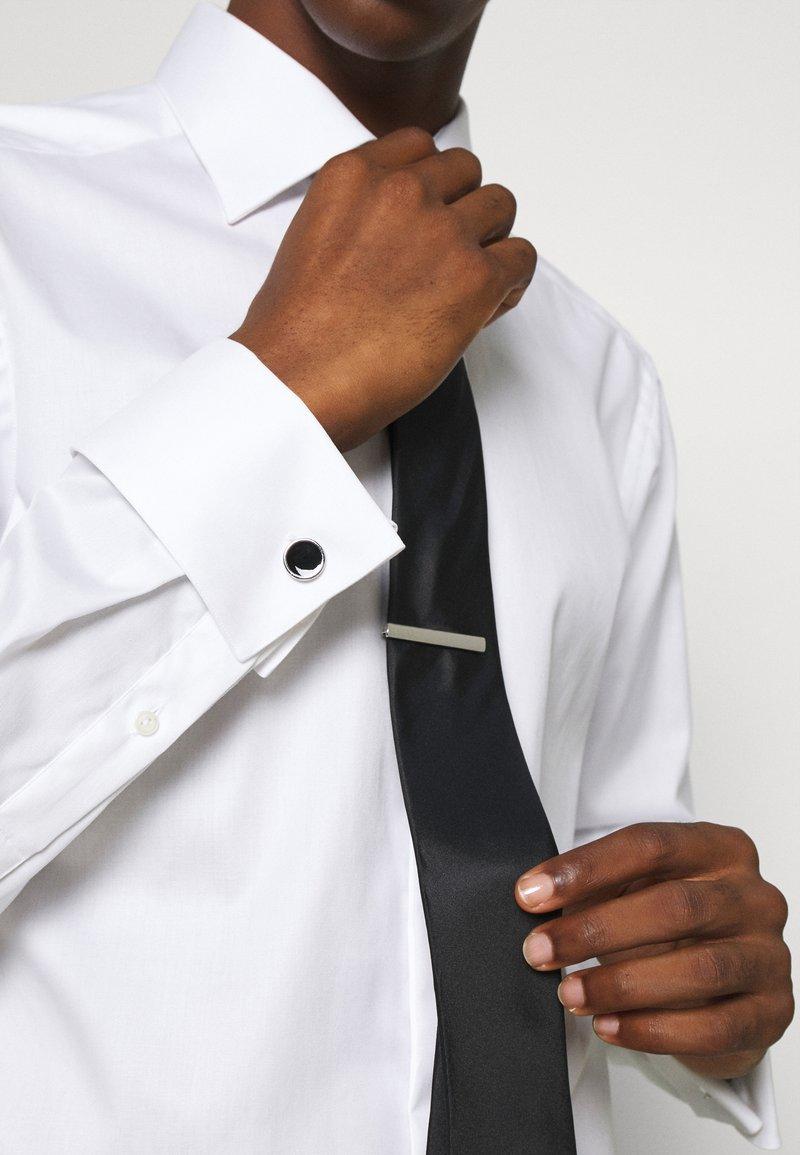 Burton Menswear London - CIRCLE CUFFLINK AND TIE PIN SET - Cufflinks - black