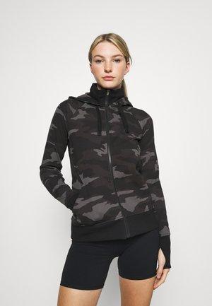 TRIUMPH PRINTED HOODIE - Zip-up sweatshirt - black