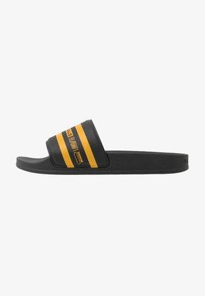 CART SLIDE IV - Mules - black/yellow
