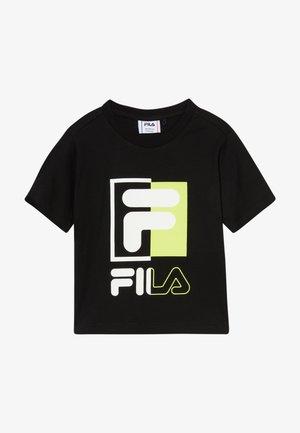 SAKU - T-shirt con stampa - black
