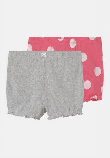 2 PACK - Shorts - pink/mottled grey