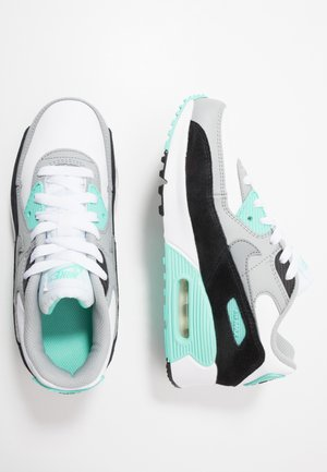 AIR MAX 90 UNISEX - Trainers - white/particle grey/light smoke grey/hyper turquoise/black