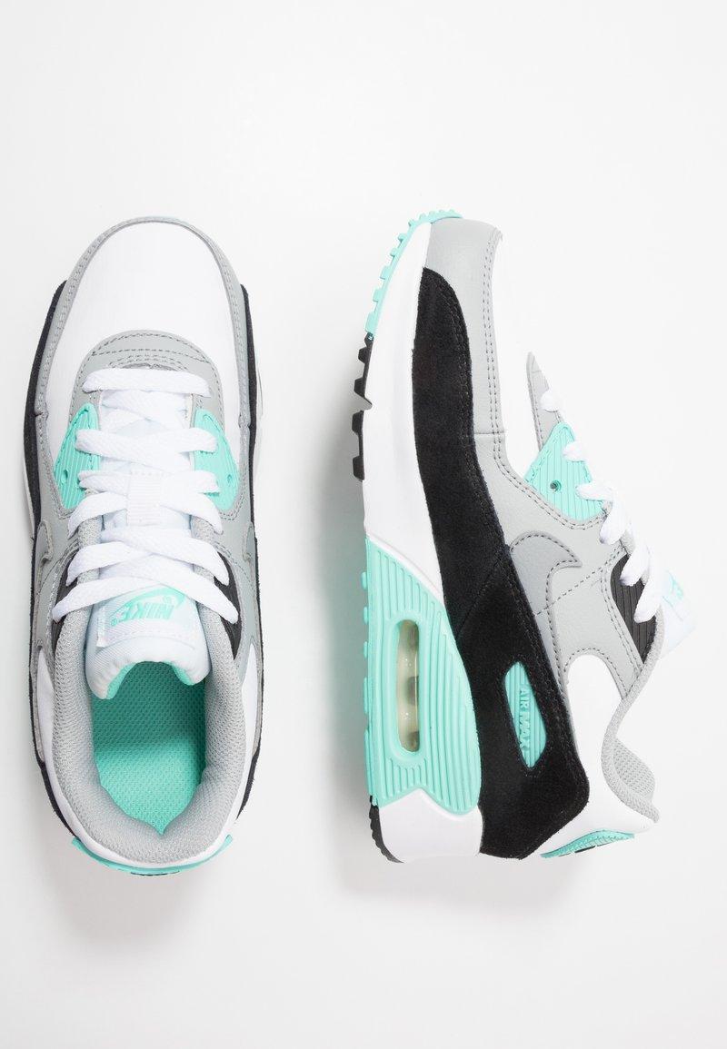 Nike Sportswear - AIR MAX 90 - Sneakersy niskie - white/particle grey/light smoke grey/hyper turquoise/black