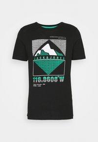 Jack & Jones - JCOCHRIS GIBS TEE CREW NECK - Print T-shirt - black - 5
