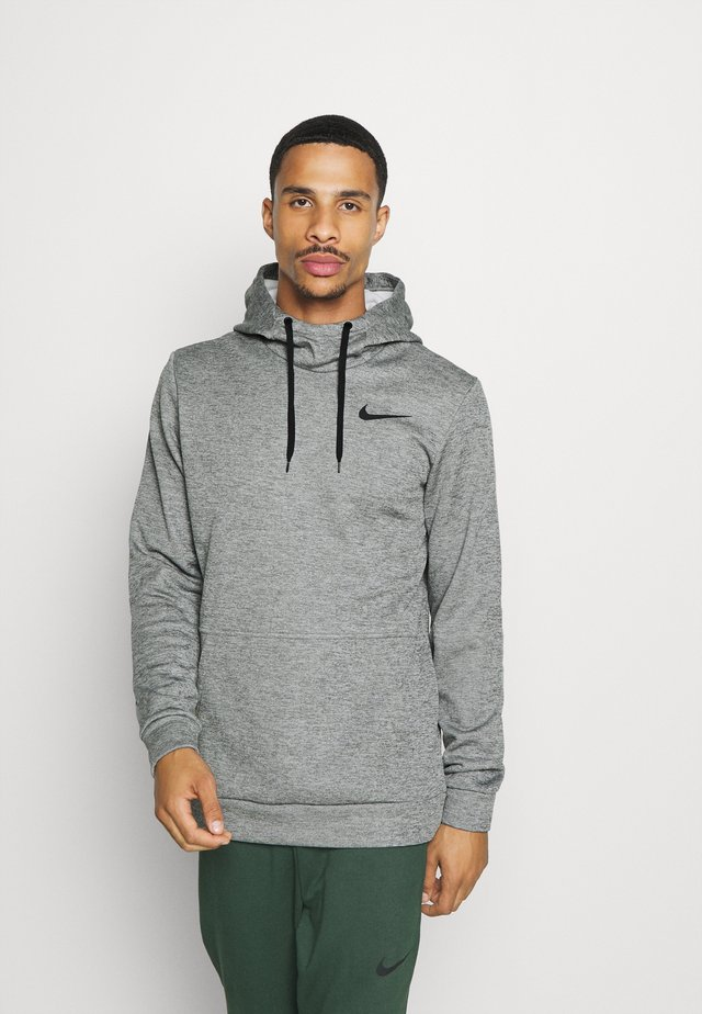 Kapuzenpullover - dark grey heather/black