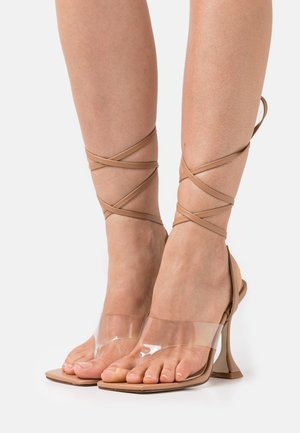 TINSLEY - T-bar sandals - clear