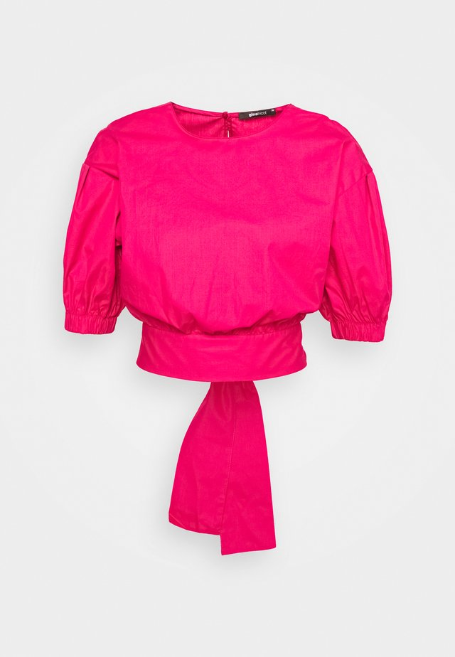 JULIA OPEN BACK BLOUSE - Bluzka - pink