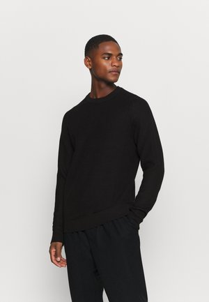 SLHCORNELIUS STRUCTURE CREW NECK - Jumper - black
