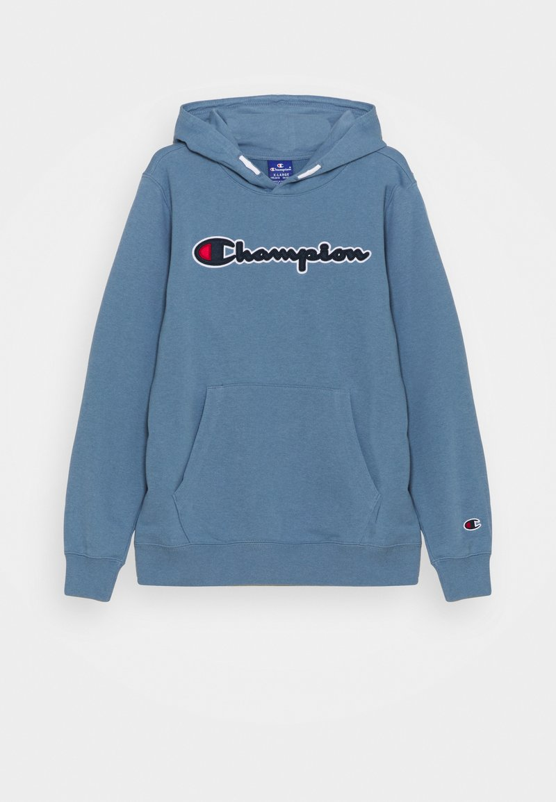 Champion Rochester - LOGO HOODED UNISEX - Mikina - blue-grey
