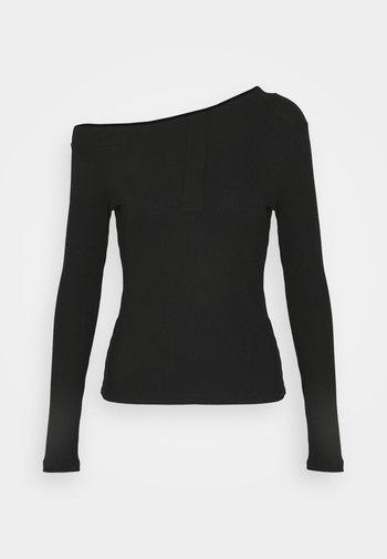 ASIMETRIC SHOULDER  - Long sleeved top - black